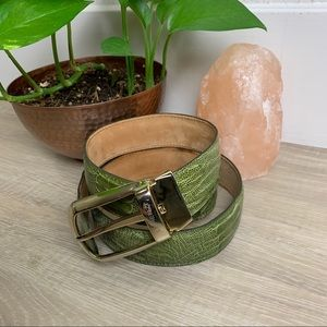 Lorenzi | Ostrich Leather Belt